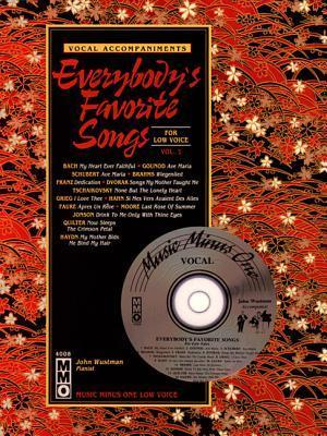 Music Minus One Mezzo-Soprano, Contralto or Bass-Baritone Voice:  Everybody's Favorite Songs, Low Voice, Vol. I (Book & CD)