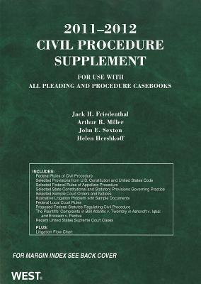 Civil Procedure Supplement for use with all Pleading and Procedure Casebooks 2011-2012 (American Casebooks)