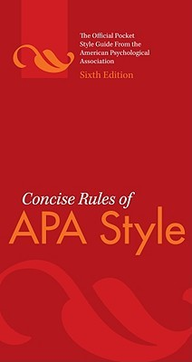 Concise Rules of APA Style