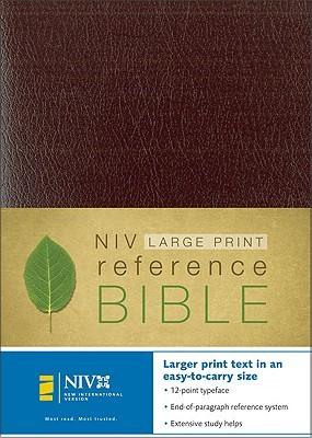 Large Print Reference Bible-NIV-Personal Size
