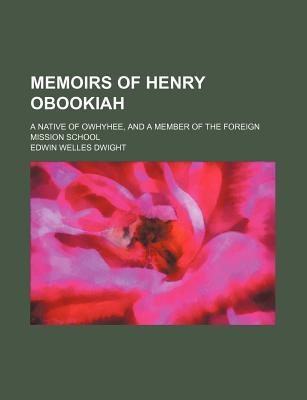 Memoirs of Henry Obookiah