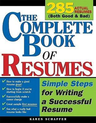 the complete book of resumes simple steps for writing a powerful