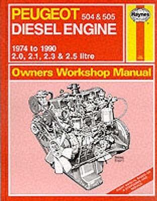 Peugeot 504 And 505 Diesel 1974 90 Owner's Workshop Manual