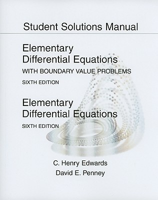 Elementary Diff. Equations With ... -Student Solution Manual