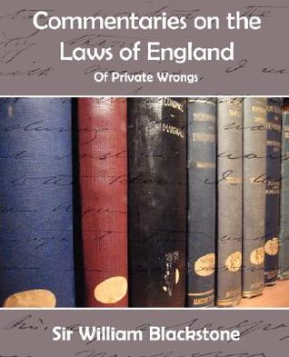 Commentaries Of The Laws Of England
