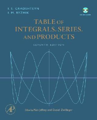 Table of Integrals, Series, and Products, Seventh Edition