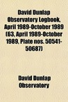 David Dunlap Observatory Logbook, April 1989-October 1989 (63, April 1989-October 1989, Plate Nos. 50541-50687)