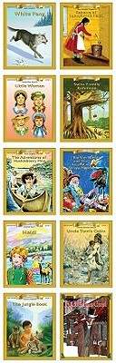 All 10 Level 1 Books Reading Level 1.0-2.0: White Fang Rebecca of Sunnybrook Farm Little Women Swiss Family Robinson the Adventures of Huckleberry Finn Rip Van Winkle Heidi Uncle Tom's Cabin the Jungle Book a Christmas Carol