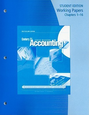 Century 21 Accounting Working Papers Chapters 1-16: Multicolumn Journal