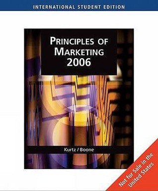 Principles of marketing 2006 with infotrac by david l kurtz 7315345 fandeluxe Choice Image