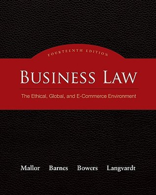 Business law the ethical global and e commerce environment by business law the ethical global and e commerce environment by jane p mallor fandeluxe Choice Image