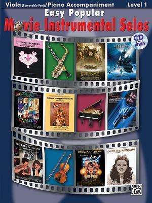 Easy Popular Movie Instrumental Solos for Strings: Viola, Book & CD