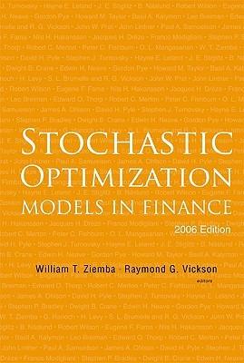 Stochastic Optimization Models in Finance