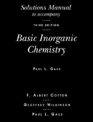 Basic Inorganic Chemistry, Solutions Manual