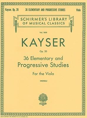 36 Elementary and Progressive Studies: Viola Method