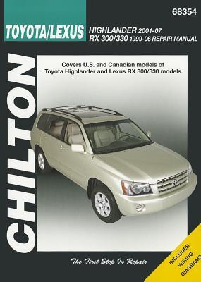 Chilton Toyota/Lexus Highlander 2001-07 RX 300/330 1996-06 Repair Manual