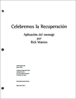 Celebremos la Recuperacion: Aplicacion del Mensaje