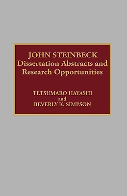 John Steinbeck: Dissertation Abstracts and Research Opportunities