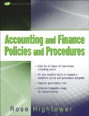 Accounting and Finance Policies and Procedures,