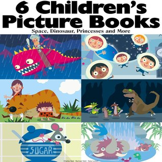 6 Children's Picture Books - Space, Dinosaur, Princess and More