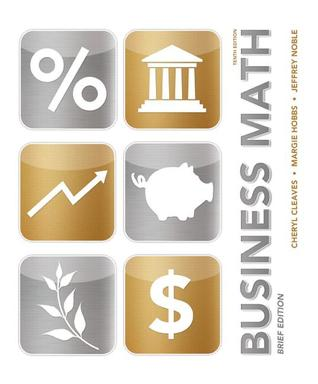 Business Math by Cheryl Cleaves