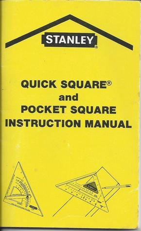 Quick Square And Pocket Square Instruction Manual By Stanley Tools