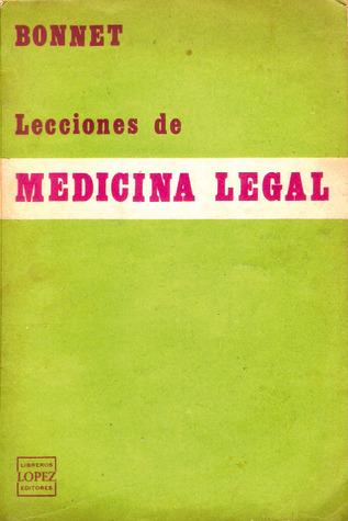 Lecciones de medicina legal