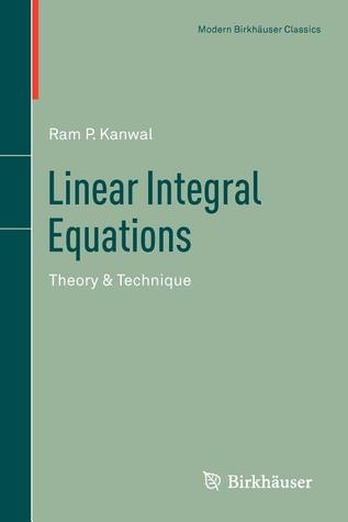 Linear Integral Equations: Theory & Technique
