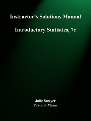 Introductory Statistics, Instructor's Solutions Manual