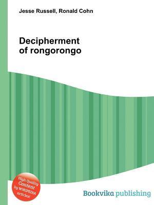 Decipherment of Rongorongo