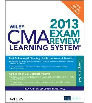 Wiley CMA Learning System Exam Review 2013, Test Bank