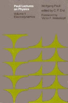 Pauli Lectures on Physics: Volume 1, Electrodynamics