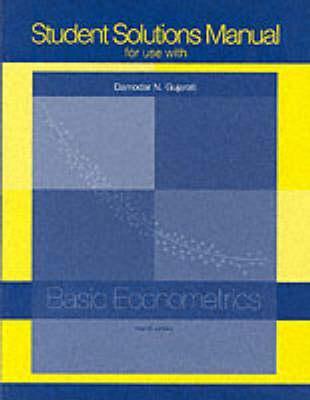student solutions manual t a basic econometrics by damodar n gujarati rh goodreads com Linear Algebra Chegg Solution Manual