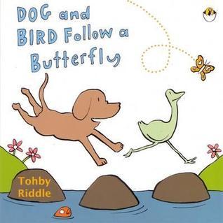 Dog and Bird Follow a Butterfly