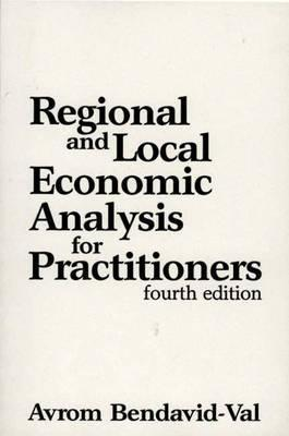 Regional and Local Economic Analysis for Practitioners