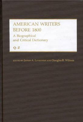 American Writers Before 1800: Q-Z