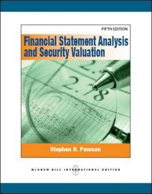 Financial Statement Analysis And Security Valuation By Stephen H