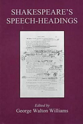 Shakespeare's Speech-Headings