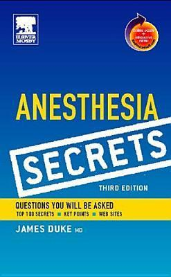 Anesthesia Secrets: With Student Consult Online Access [With CDROM]