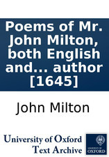 Poems of Mr. John Milton, both English and Latin