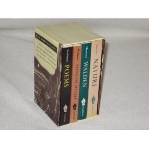 Four American Classics, Boxed Set: Poems, Nature, Walden, Song of Myself