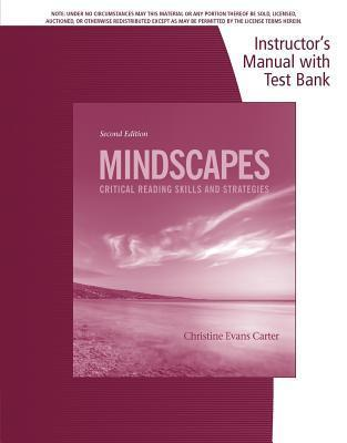 Mindscapes : Instructor's Manual with Test Bank