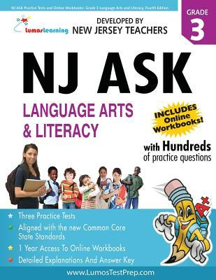 NJ Ask Practice Tests and Online Workbooks: Grade 3 Language Arts and Literacy, Fourth Edition: 2013 Common Core State Standards Aligned