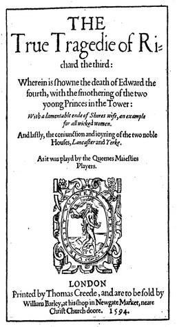 The True Tragedie of Richard the Third