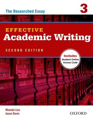 effective academic writing the essay by rhonda liss