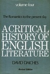 A Critical History of English Literature, Volume 4: The Romantics to the Present Day