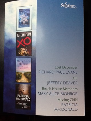 Lost December, XO, Beach house memories, Missing child (Reader's Digest select editions, Volume 1, 2013) 325