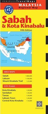 Sabah  Kota Kinabalu Travel Map Fifth Edition