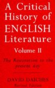 A Critical History of English Literature, Volume 2: The Restoration to the Present Day