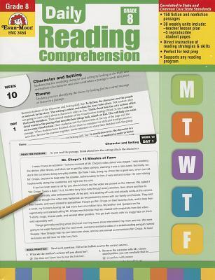 Daily Reading Comprehension, Grade 8 Te